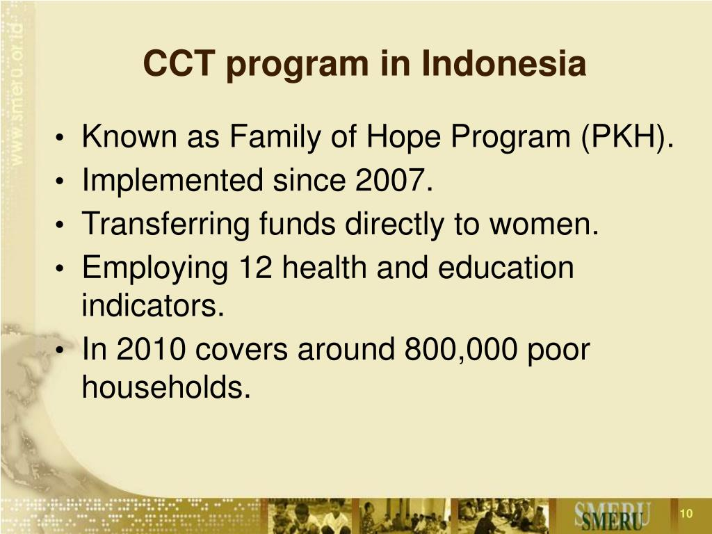 CCT program in Indonesia