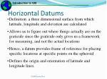 horizontal datums