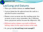 lat long and datums