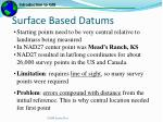 surface based datums1