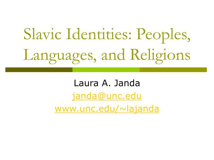 slavic identities peoples languages and religions n.