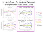 3 land ocean contrast and seasonal energy fluxes observations