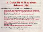 2 guide me o thou great jehovah 1941