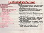 he carried my sorrows