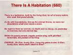 there is a habitation 660