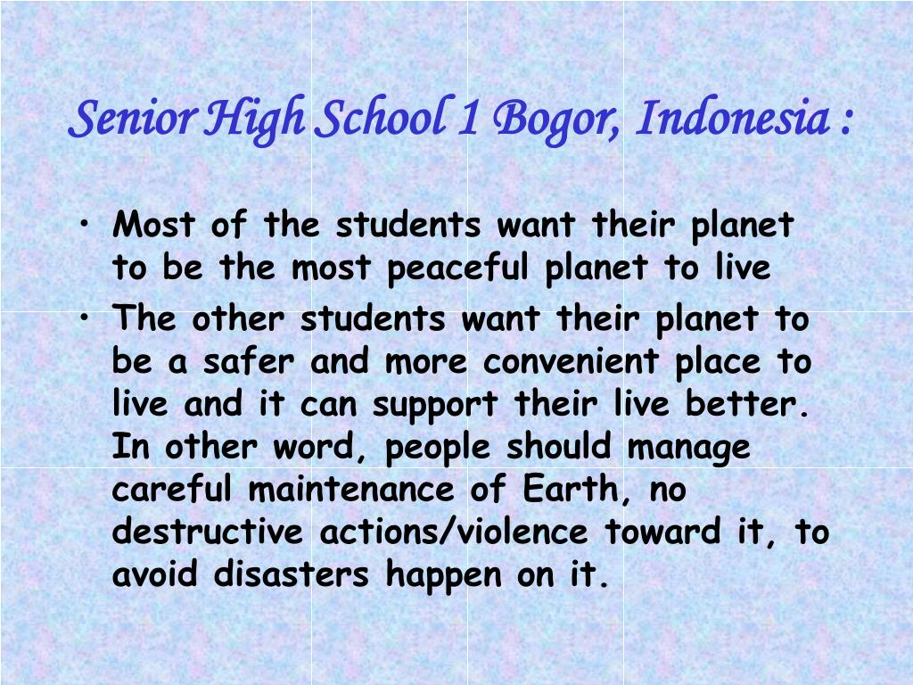 Senior High School 1 Bogor, Indonesia :