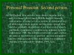 personal pronoun second person