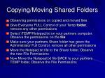 copying moving shared folders