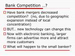 bank competition