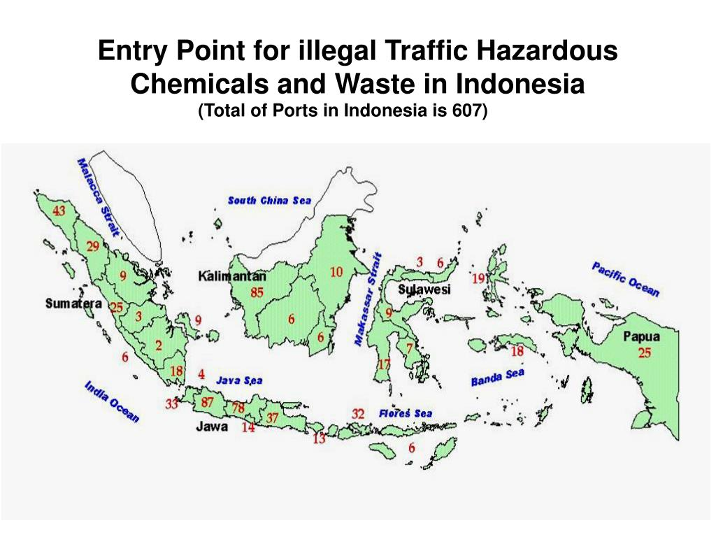 Entry Point for illegal Traffic Hazardous Chemicals and Waste in Indonesia