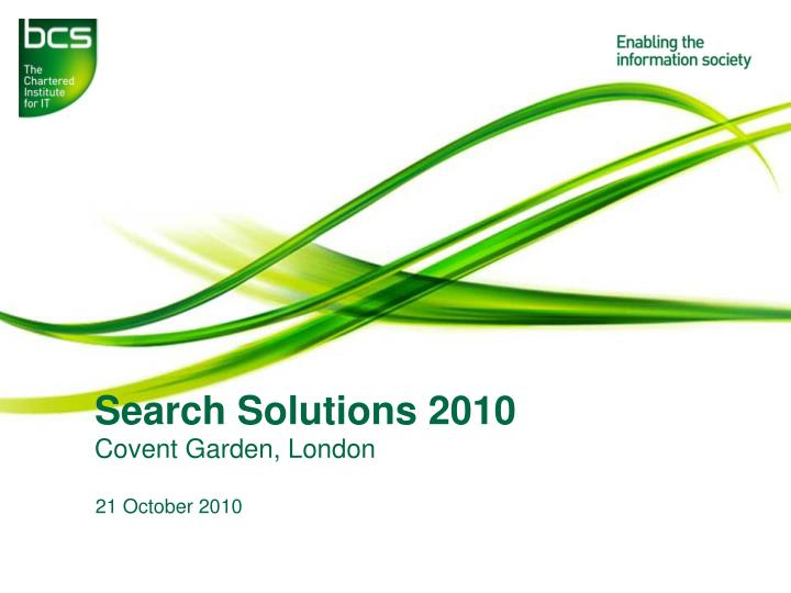 search solutions 2010 n.