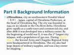 part ii background information