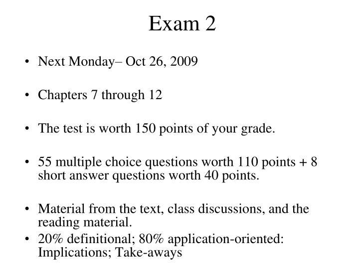 exam 2 n.