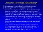 asbestos screening methodology
