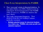 chest x ray interpretations by pahbr