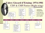 valery giscard d estaing 1974 1981 udf ump parties right wing