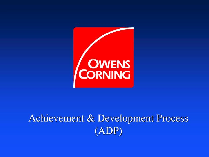 achievement development process adp n.