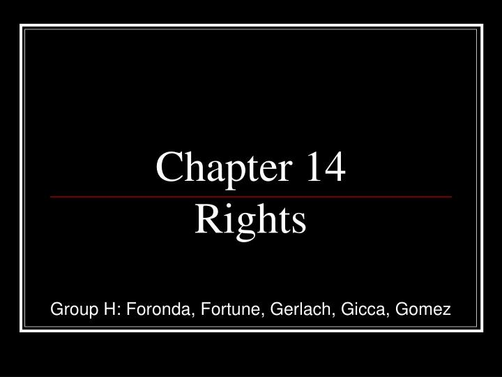 chapter 14 rights n.