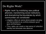 do rights work