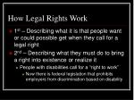 how legal rights work