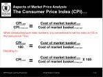 aspects of market price analysis the consumer price index cpi1