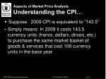aspects of market price analysis understanding the cpi