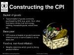 constructing the cpi