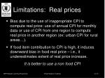 limitations real prices
