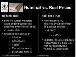 nominal vs real prices