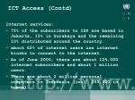 ict access contd