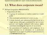 1 1 what does corporate mean1