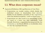 1 1 what does corporate mean5