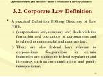 3 2 corporate law definition