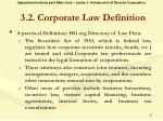 3 2 corporate law definition1