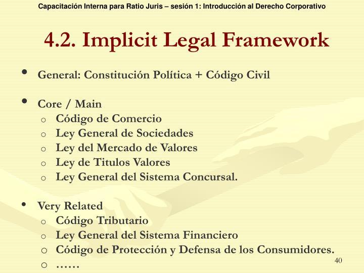 4.2. Implicit Legal Framework