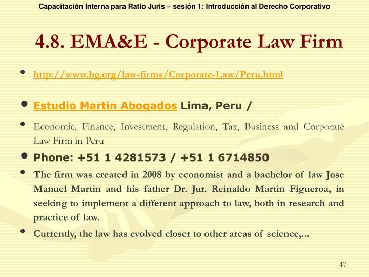 4.8. EMA&E - Corporate Law Firm