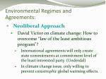 environmental regimes and agreements1