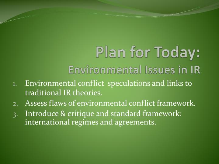 plan for today environmental issues in ir n.