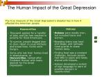 the human impact of the great depression
