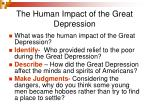 the human impact of the great depression3