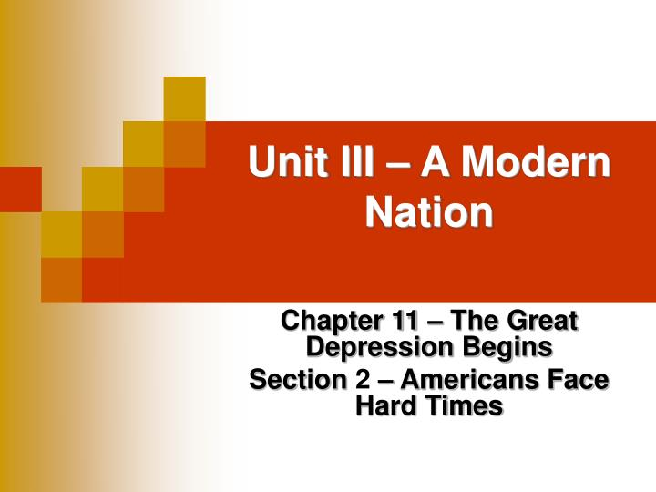 unit iii a modern nation n.