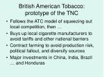 british american tobacco prototype of the tnc