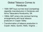 global tobacco comes to honduras
