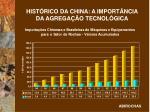 hist rico da china a import ncia da agrega o tecnol gica