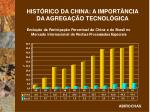 hist rico da china a import ncia da agrega o tecnol gica1