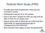 federal work study fws