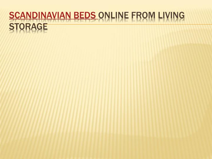 scandinavian beds online from living storage n.