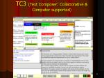 tc3 text composer collaborative computer supported
