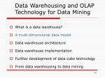 data warehousing and olap technology for data mining1