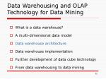 data warehousing and olap technology for data mining2
